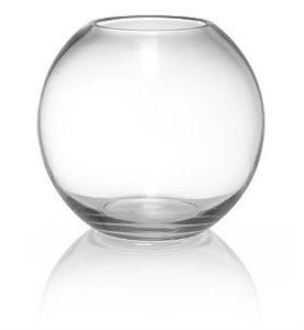 Fish bowl glass 20cm mardigras event hire for Vase aquarium rond