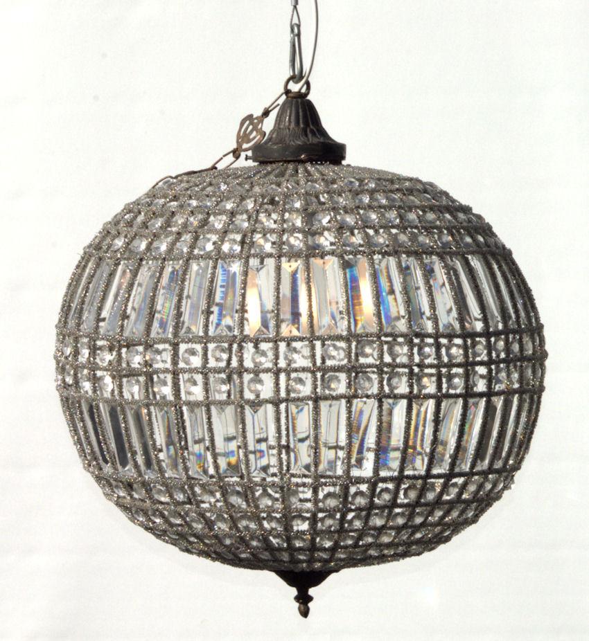Glass sphere chandelier mardigras event hire glass sphere chandelier aloadofball Choice Image